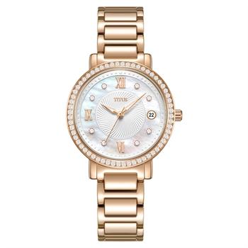 Fair Lady三针日期显示石英不锈钢腕表(W06-03200-003)