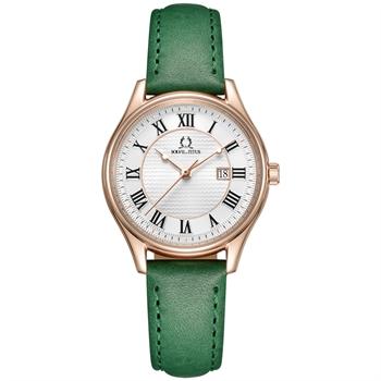 Classicist三针日期显示石英真皮腕表(W06-03194-006)