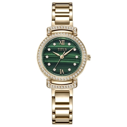 Fair Lady三针日期显示石英不锈钢配陶瓷腕表(W06-03215-001)
