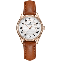 Classicist三针日期显示石英真皮腕表(W06-03194-005)
