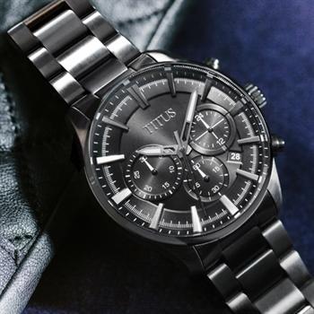 Modernist计时石英不锈钢腕表(W06-03082-003)