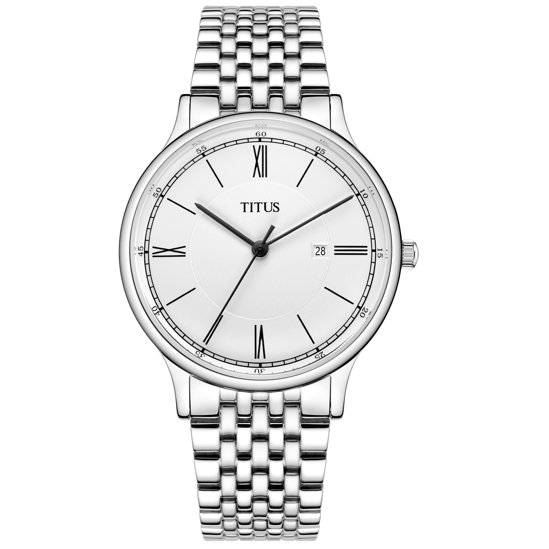 Classicist三针日期显示石英不锈钢腕表(W06-03045-002)