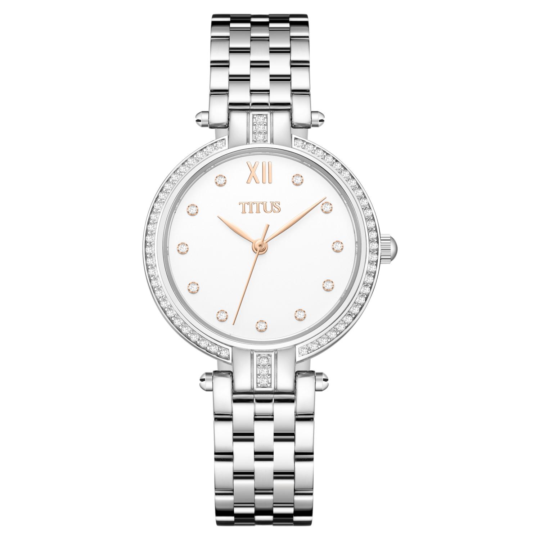 Fair Lady三针石英不锈钢腕表(W06-03174-001)
