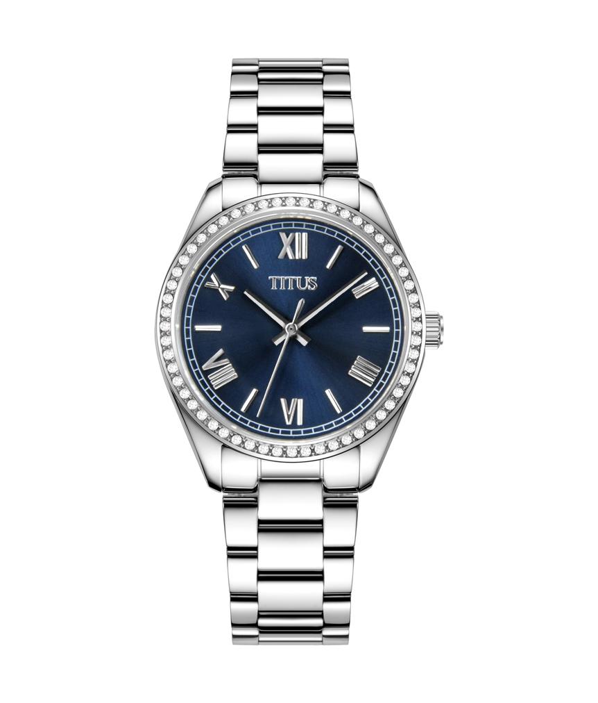 Fair Lady三针石英不锈钢腕表(W06-03150-006)