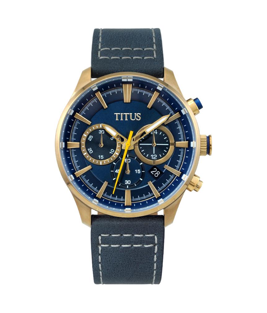 Modernist计时石英皮革腕表(W06-03082-012)